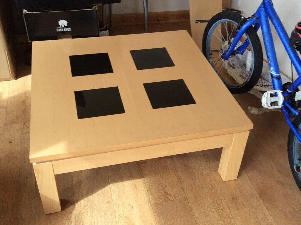 Pleasing Brand New Coffee Table Beech With Smoked Glass Inlays In Elgin Moray Gumtree Machost Co Dining Chair Design Ideas Machostcouk