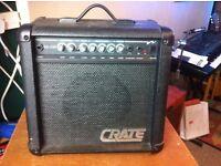 Crate GX-15R 15 watt guitar amplifier.