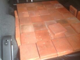 "Reclaimed Original Victorian 9"" tiles for sale approx 75in good condition"