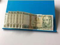 Peruvian 1000 Mil Intis Bank Notes