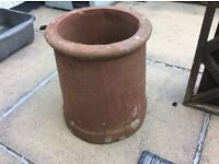This lovely rustic Chimney pot stands 12 inches high and looks great with flowers in.