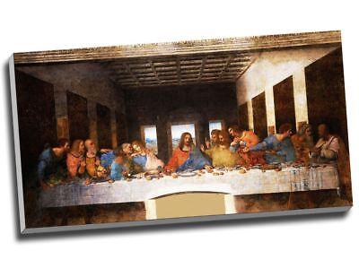 "Leonardo Da Vinci The Last Supper Canvas Print Large 30x16"""
