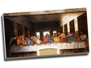 Leonardo Da Vinci The Last Supper Canvas Print Wall Art 30x16