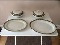 Vintage Palissy serving plates and soup tureens