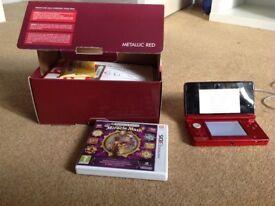 Nintendo 3DS Metallic Red -As New