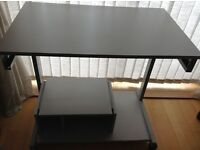 Grey computer table