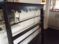 Antique large wooden plate rack