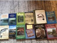 Salmon and trout books collection
