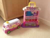 Shopkins Pop Up Shopping Mall and Ice Cream van