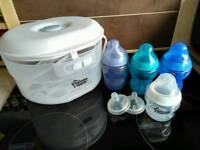 Steriliser and bottles
