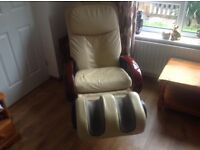Leather massage chair in great condition.