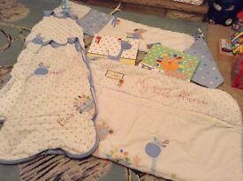 NEXT 'My Best Friends' Nursery Set including duvet, bumper, 2 sleeping bag, 2 pictures & Lightshade
