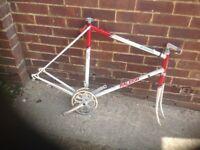 Vintage Raleigh Scirocco Road Bike Frame