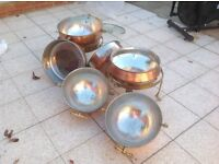 Brass Traditional Indian Cooking Pots.