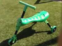 Green scuttle bug trike