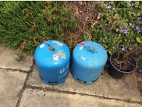 Camping gaz cylinders.