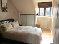 Two bed top floor self contained fully furnished flat with shared garden and drying area.