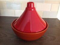 Burnt Orange Ceramic Moroccan Tagine