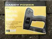 Nutool Handy Power HP16 electric stapler/nailer in original packaging with instructions