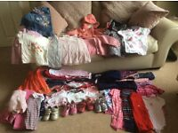 Girl's clothes up to age 2