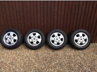 Ford Transit/Custom Genuine Ford Alloy Wheels & Continental Tyres. ***MINT CONDITION***