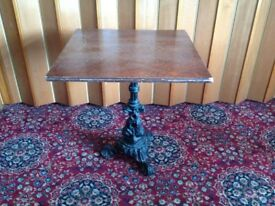 Vintage cast iron base table