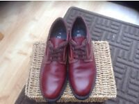 Mens Brown Wide Fitting Shoes Size 10