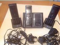 BT House phones - three including answer machine