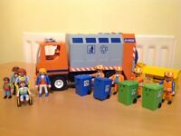 Playmobil Dustbin Wagon and accessories.