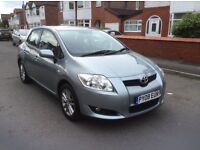 2008 Toyota AURIS 1.4 TR 5dr hatchback petrol manual 1 owner low mileage full history £2395