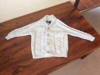 Next boys grey chunky knit cardigan age 18-24 months/1.5-2 years
