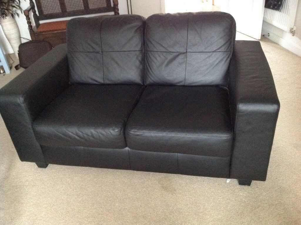 Ikea 2 Seater Leather Sofa In Wareham