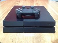 Sony PlayStation 4 – 500GB and controller, wires, game. Perfect working condition