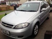 2008/57 Chevrolet Lacetti 1.6 sx 79000 miles silver 5 door new mot and fully serviced