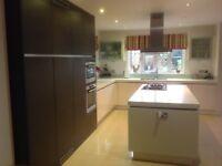 Stylish Contemporary Urban Myth Handleless Kitchen with Siemens Appliances