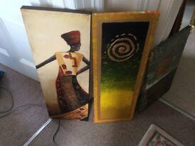 3 x oil paintings