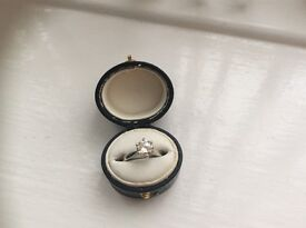 Certified 1.1 carat solitaire diamond ring. Size J