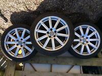 3 x Genuine Audi Alloy Wheels & Tyres