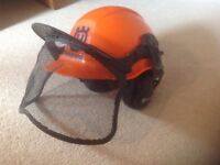 Husqvarna Chainsaw Protective Hard Hat with Face Guard and Ear Protectors