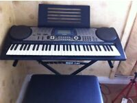 Casio Keyboard CTK - 651 with stool and stand