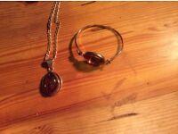 Lovely Amber Necklace and Bracelet