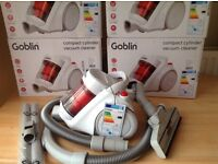 New compact lightweight bagless goblin cylinder vacuums