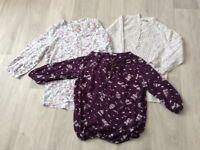 3 ladies blouses size 12 excellent condition