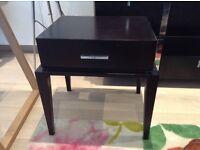 Black drawer tables for moving sale