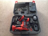 Black & Decker 14.4V Cordless Drill and Saw (No Batteries)