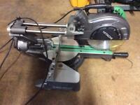 Hitachi sliding mitre saw