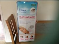 Brand new still boxed Home comforts king size memory foam mattress topper