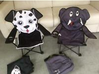 2 children's garden chairs
