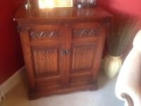Old Charm Wooden TV cabinet 35 inches W, 21 D, 40H or could be hifi storage,vg condition