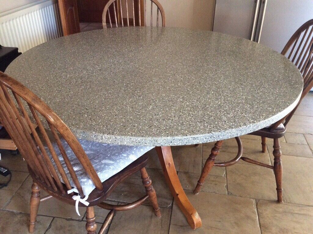 Purpose Made Kitchen Table Corian Style Top 6 Windsor Style Chairs In Cherry Willingham Lincolnshire Gumtree